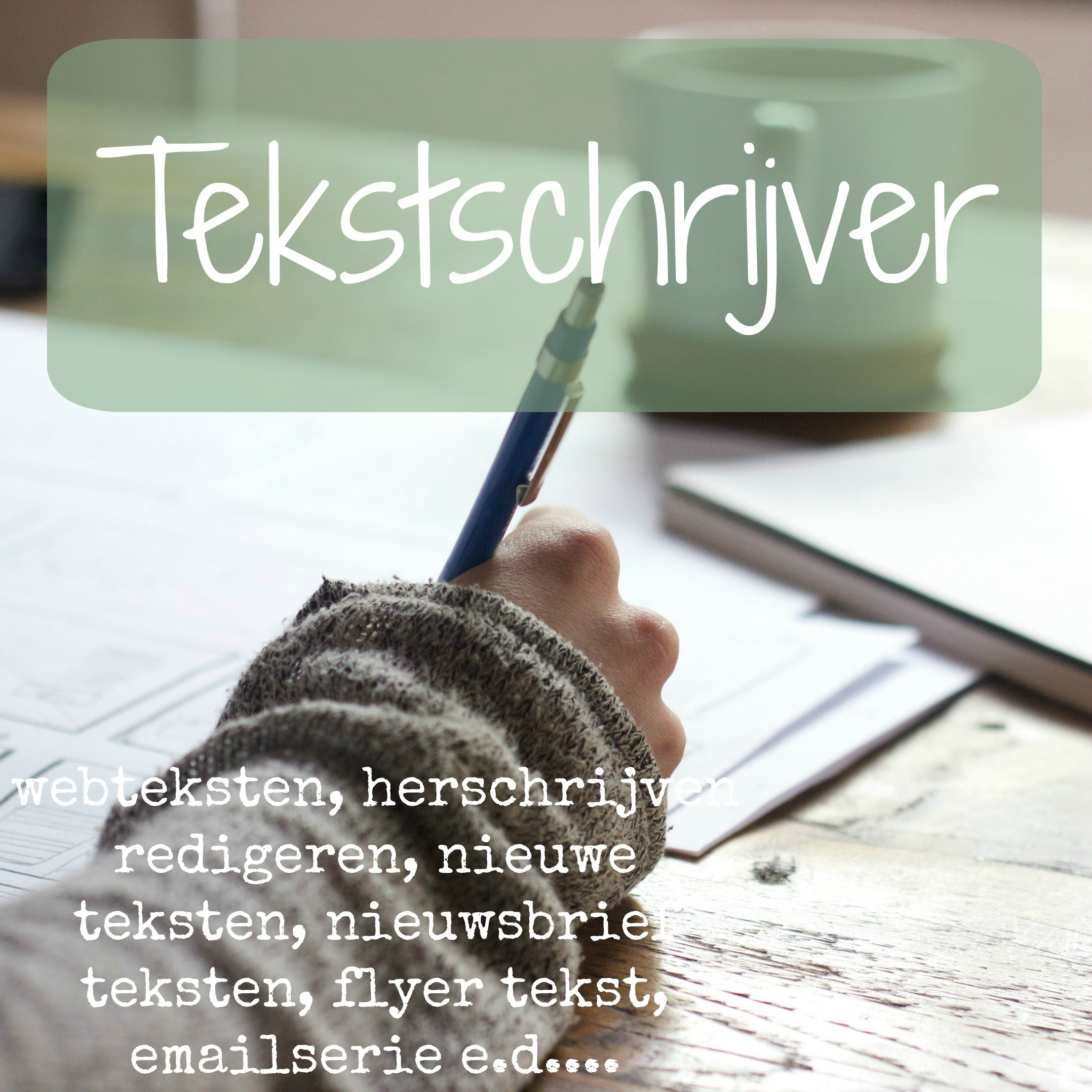 tekst schrijver